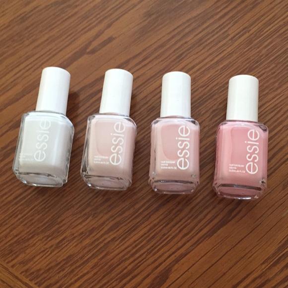 Essie Accessories | Nail Polish Pack Of 4 Pastel Pinks | Poshmark
